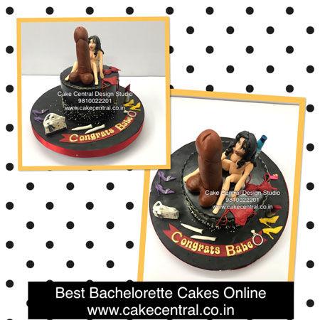 Naughty Bacherlorette Party Cakes Online in Delhi
