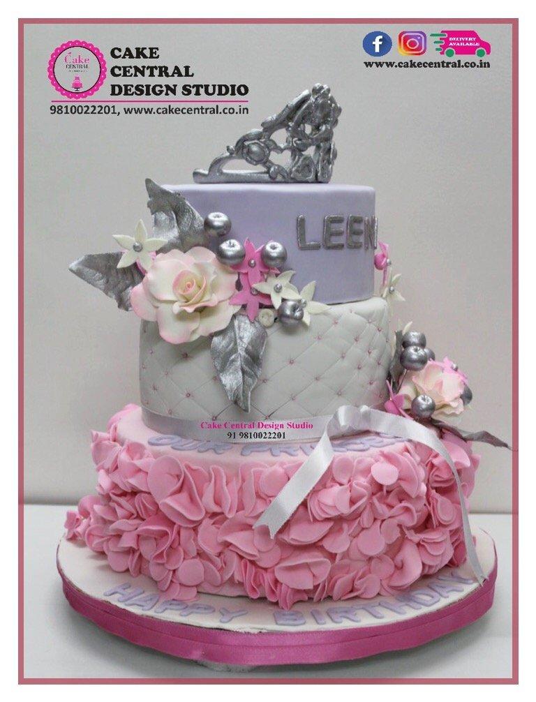 Floral Crown Wedding Cake Delhi