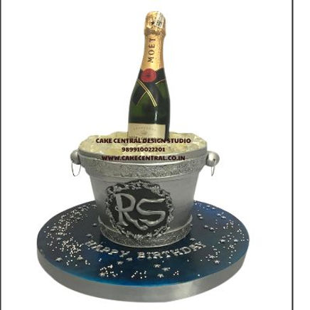 Champagne_Bottle_Ice_bucket_Cake_in_Delhi_Online