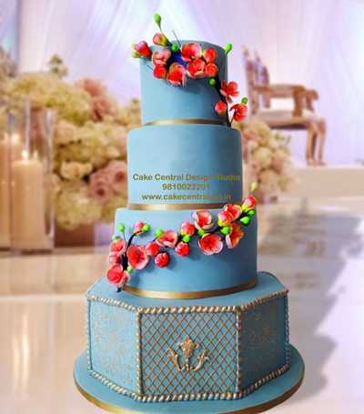 Royal Wedding Reception Cake in Delhi Online