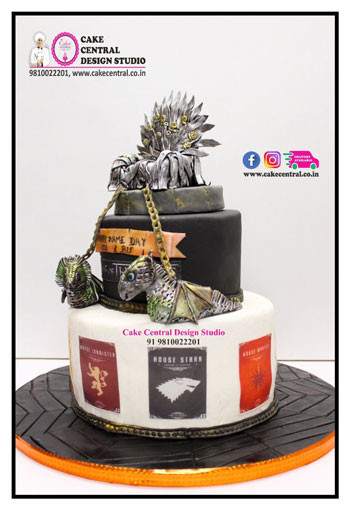 2 Tier BIg Size Game of Thrones Cake in Delhi Online with Delivery