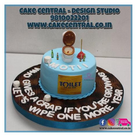 Toilet Poop Cake Delhi