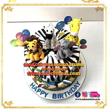 Jungle Theme Cake in Delhi Online