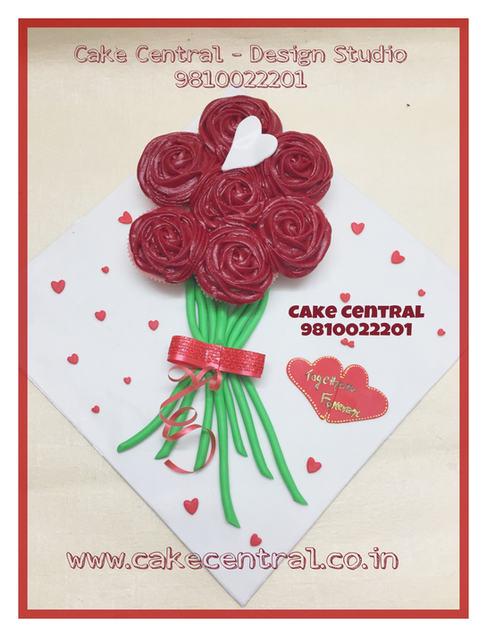 Cupcake Bouquet Delivery Delhi Online.Cake Central - Premier Cake Design Studio , New Delhi , Delhi