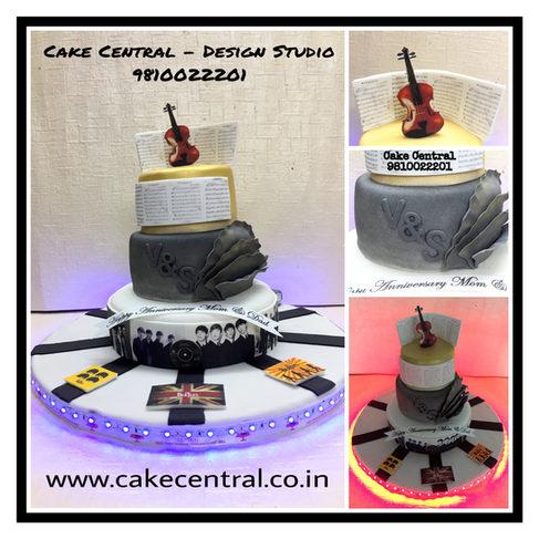 Beatles theme Cake Delhi ,Gugaon , Noida