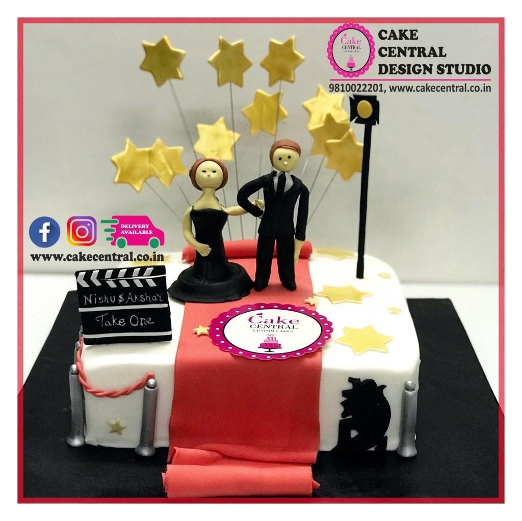 Hollywood Red Carpet Wedding Cake