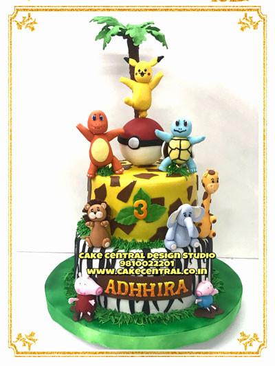 2 Tier Jungle Cake in Delhi Online