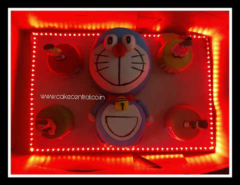Doraemon,Nobita and Friends 4D Cake with Lights Delhi | Online Cake Delivery Delhi NCR