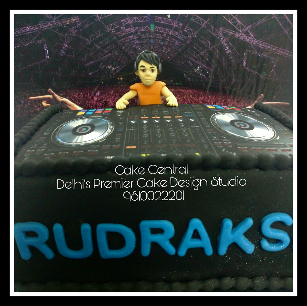 DJ Theme Cake Delhi , DJ theme Fondant Cake , Customized  Designer DJ theme Birthday Cake  , 4D Designer Cake Delhi by Cake Central - Premier Cake Design Studio Delhi 9810022201