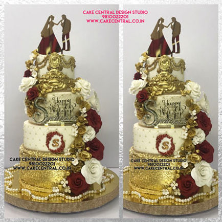 Elegent 25th Anniversary Cake for Parents in Delhi Online