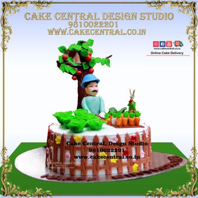 Nature & Garden Theme Retirement Cakes in Delhi Online