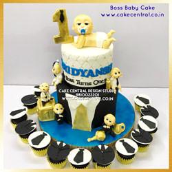 First Birthday Boss Baby theme Cake in Delhi Online