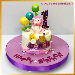 First Birthday Lion Cake Delhi Online