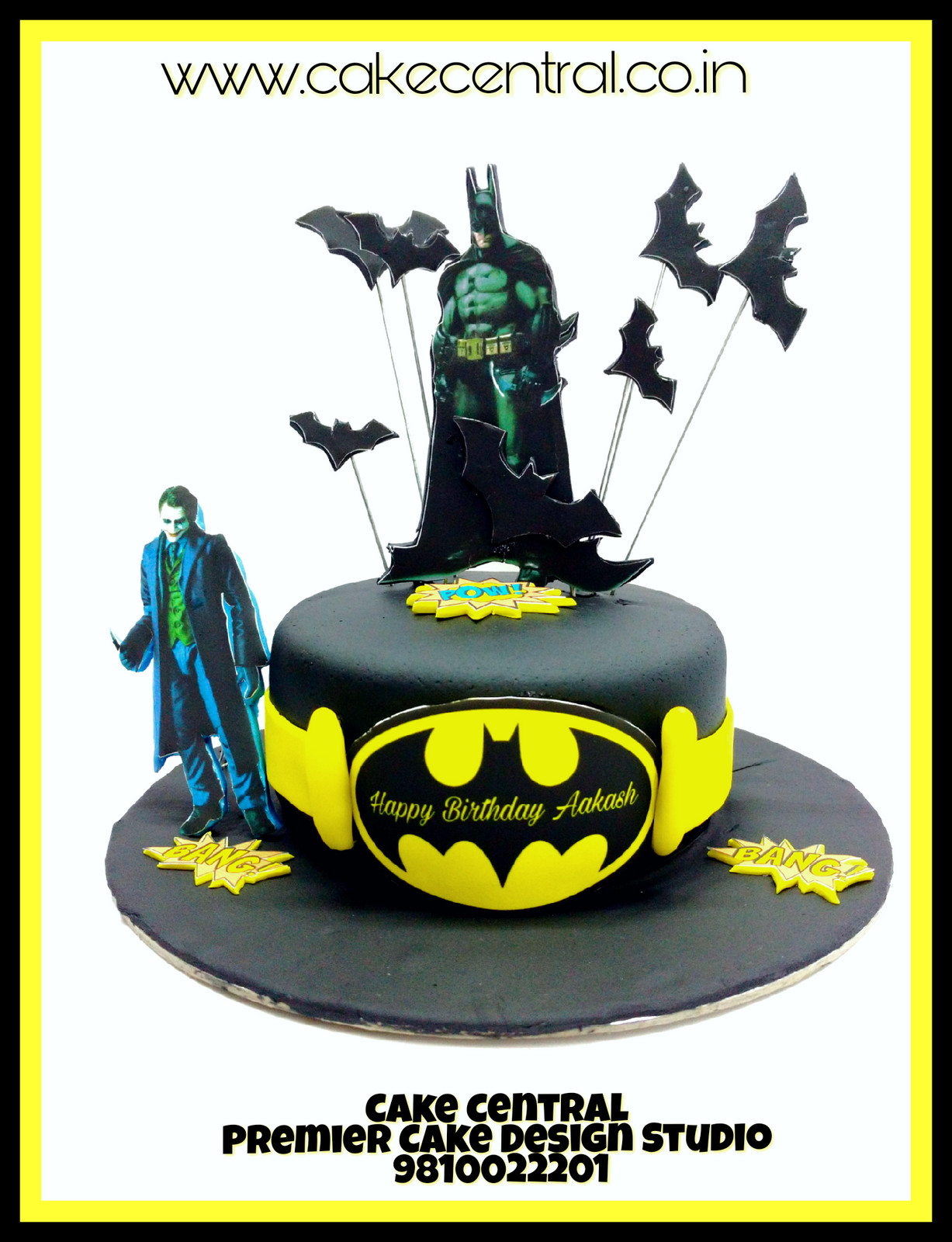 Buy Online Batman Themed Birthday Cake Cartoon Cakes In Delhi