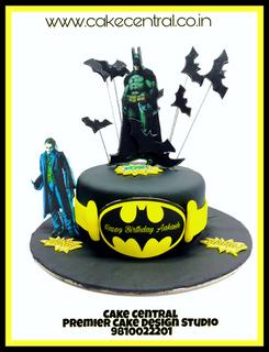 Buy Online Batman Themed Birthday Cake , Cartoon Cakes in Delhi