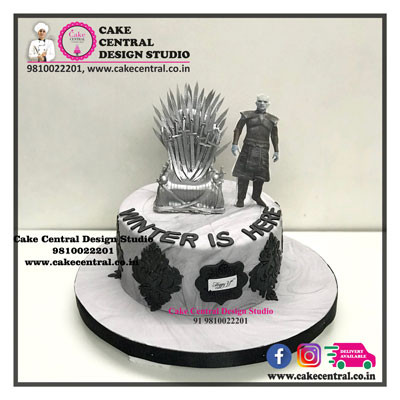 Night King & Iron Throne Cake in Delhi Online with Delivery