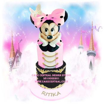 Minnie Mouse First Birthday Cake Delhi Online