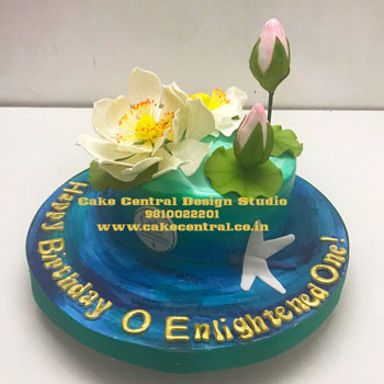 Lord Krishna Lotus Feet Cake in Delhi Online
