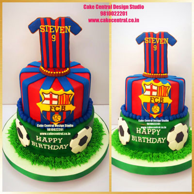 Barcelona Football Shirt Cake in Delhi Online