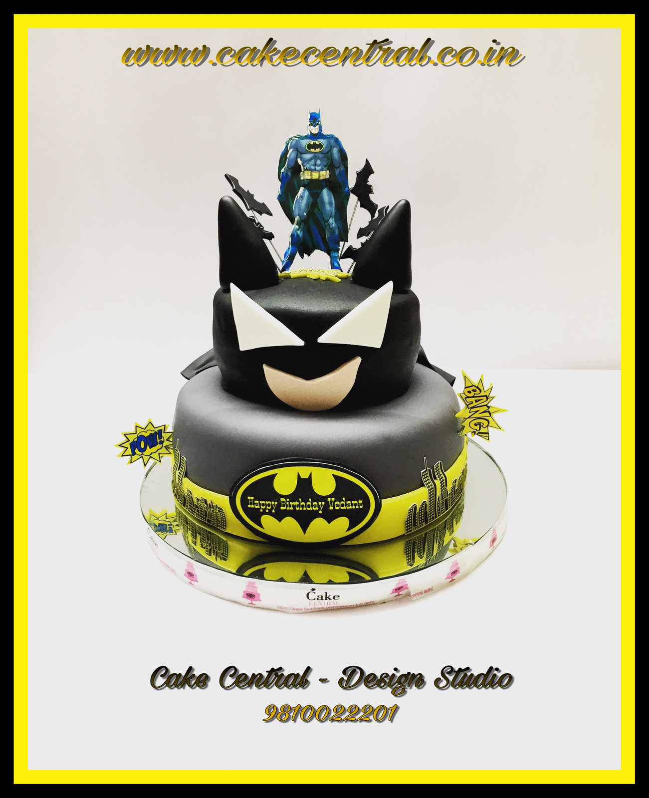 Batman Theme Cake For Kids Birthday Party In Delhi Online
