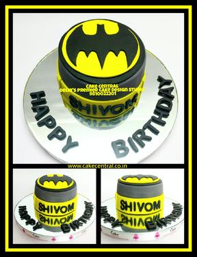 Batman Themed Birthday Designer Cake Delhi