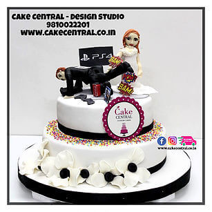 Game Over Funny Wedding Cake Designs in Delhi
