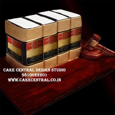 Lawyer Law Book Cake in Delhi Online