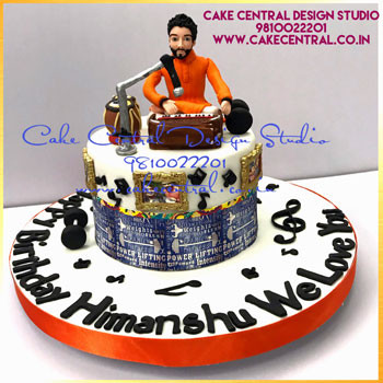 Indian Music Instruments Cake Delhi Online