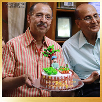 Nature Lovers Cake for Father in Delhi Online