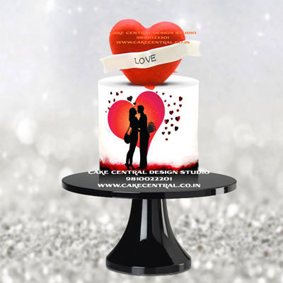 Love & Romance Heart Theme Cakes Online  in Delhi Noida & Gurgaon with Delivery