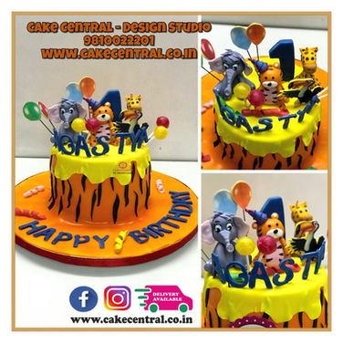 Baby Tiger Jungle Cake  | Order Designer Cakes Online with Cake