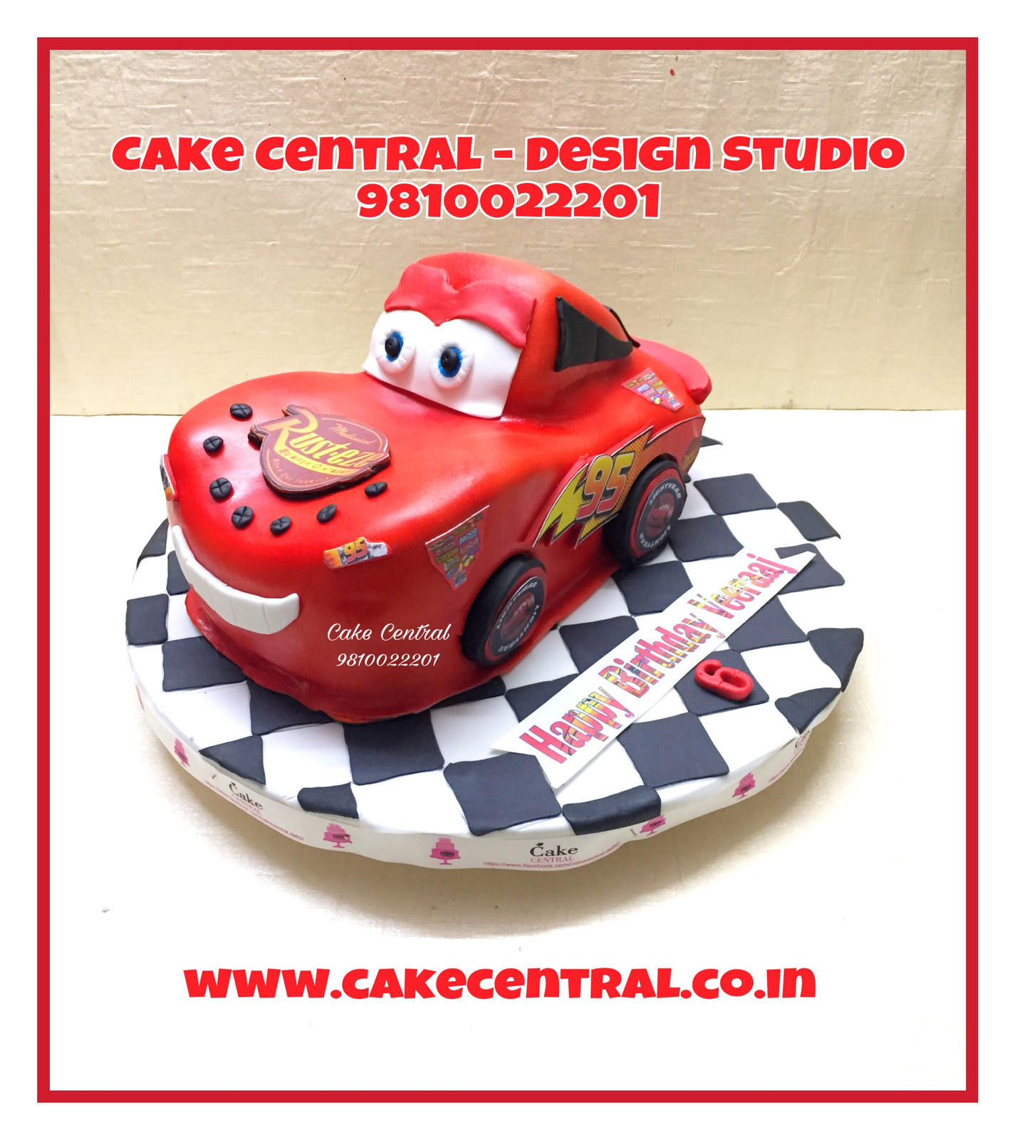Lightning mcqueen car cake delhi racing car cake delhi Custom car designer online