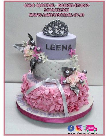 Pretty Pink Crown Cake Delhi