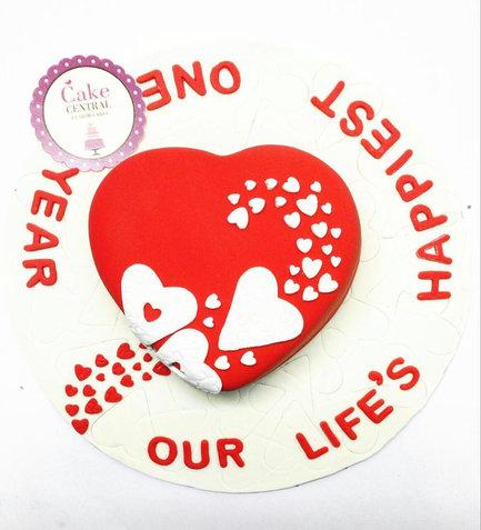 Designer Valentine & Wedding Anniversary Cake in Delhi NCR