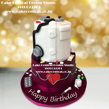 Doctor Cake Online in Delhi - Birthday Cake for Female Doctor