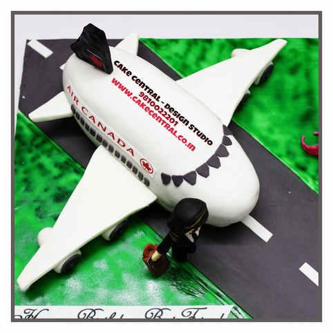Airplane 3D / 4D Cake Delhi  4D Pilot Cake Delhi   Online Cake Delivery Delhi , Noida Gurgaon