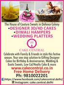 Order & Send  Exotic Wedding Platters , Fancy Festive Platters , Designer Brownies Cake Central Delhi Deffence Colony , Premier Cake Design Studio Delhi , New Delhi , South Delhi