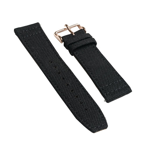 Black - Canvas Strap w/gold   buckle