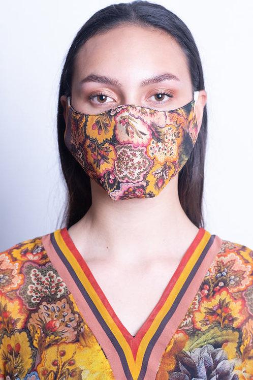 Golden Floral Mask