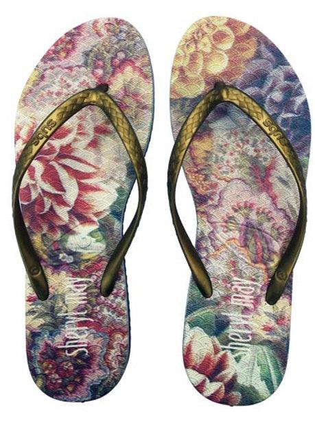 Sheryl May x Subs Flora Jandals