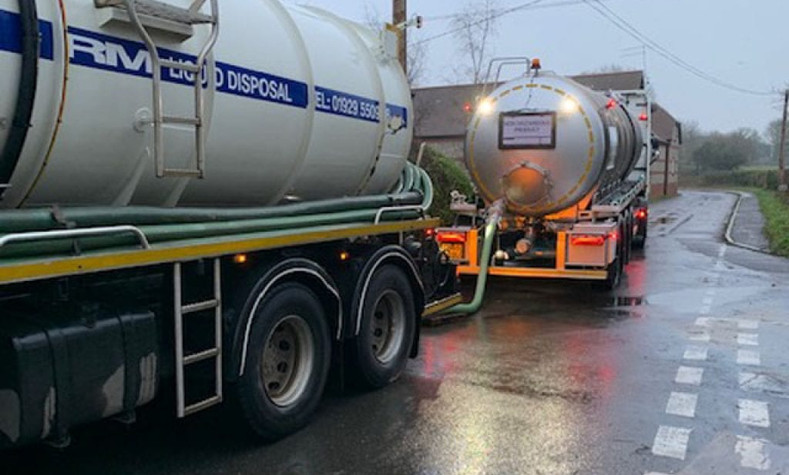 Our tankers helping with the flood