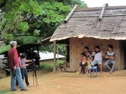 Filming family in Laos