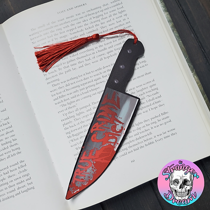 True Crime Knife - Double Sided Bookmark
