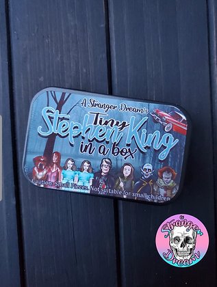 Tiny Stephen King in a Box - Set of 8 Tiny Magnets in a Tin