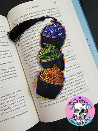Halloween Cupcakes - Double Sided Bookmark