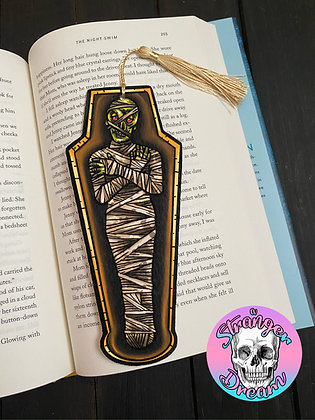 Mummy - Double Sided Bookmark with Tassel