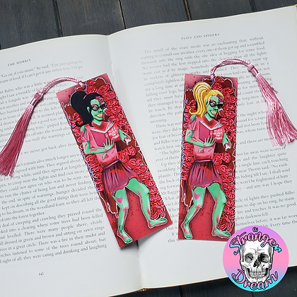 Zombie Reader Girls - Double Sided Bookmark