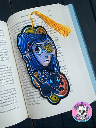 Button Eyes - Double Sided Bookmark