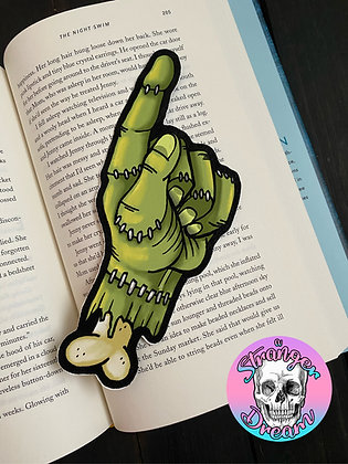 Frankenstein's Monster Hand - Double Sided Bookmark