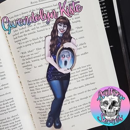 Author Series - Gwendolyn Kiste - Double Sided Bookmark - Two Different Sides!
